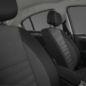Tapicería mixta GT TEP/tejido carbón oscuro/gris claro, con refuerzos laterales